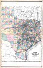 Texas, United States 1885 Atlas of Central and Midwestern States